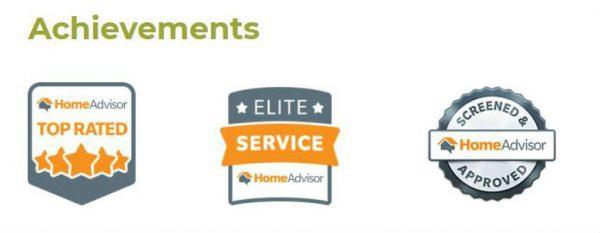 home advisor approved landscaper badge